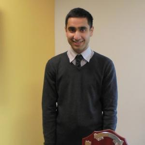 CIBSE East Midlands Student of the Year Dawood Seedat, supported by Briggs & Forrester