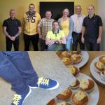 Cystic Fibrosis Trust wear it Yellow Briggs and Forrester Birmingham